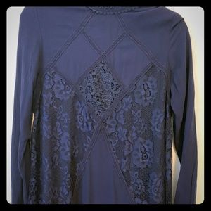 Navy blue size small lace long sleeve dress